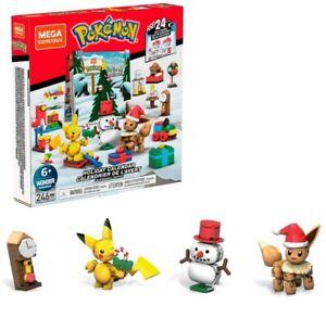 (246pcs)Mega Construx Pokemon Holiday Calendar Advent NEW(Ship in Priority Box)