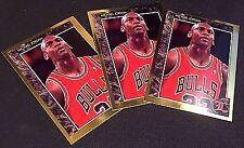 MICHAEL JORDAN 1992 Legends Sports LOT of ( 3 ) GOLD Foil INSERT Cards #48 BULLS