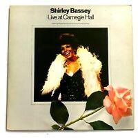 SHIRLEY BASSEY - Live At Carnegie Hall / 1973 2 x Vinyl LP / United Artists
