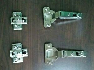 2 Set - IKEA Cabinet Hinges   Soft Closing with Dampers, Nickel Plated