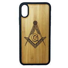 Freemason Case made for iPhone X phones Bamboo Wood Cover + TPU Wrapped Edges