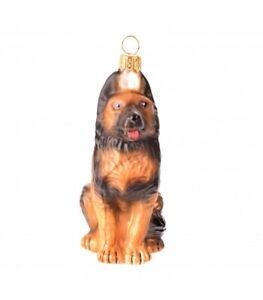 Novelty Handmade German Shepherd Dog Christmas Ornament Bauble Tree Decoration