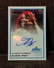 Autographed Alicia Fox 2013 Topps WWE Triple Threat Card WWF/WCW/ECW/NWA/AWA