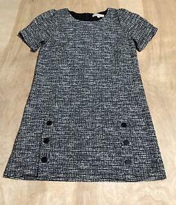 ann taylor loft Short Sleeve black & white dress Size 12 W/zipper