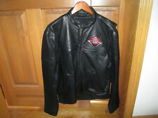 THUNDER MOUNTAIN CUSTOM CYCLES - MAN'S LEATHER MOTORCYCLE JACKET - SIZE M