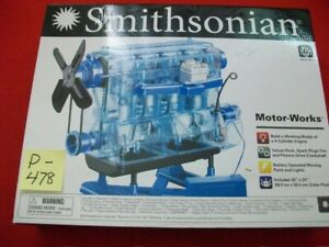 BRAND NEW SMITHSONIAN MOTOR-WORKS BUILD WORKING MODEL 4 CYLINDER ENGINE AGES 8+
