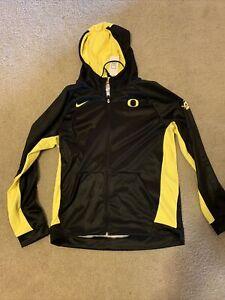 Nike University of Oregon Ducks Large Zip Up Sweatshirt Therma Fit
