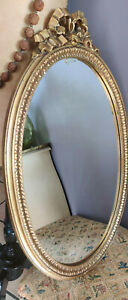 Ancien miroir cadre doré Style Louis XV Doré à la feuille