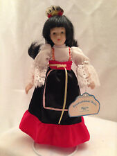 "Maria International Dolls Spain Porcelain Ethnic Collectible 8"" Russ"