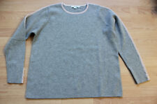 BODEN  grey / pink trim thick cotton/wool  Jumper   size XL  WV103   NEW