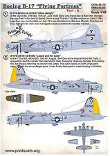 Print Scale Decals 1/48 BOEING B-17G FLYING FORTRESS Idiot's Delight & Lassie