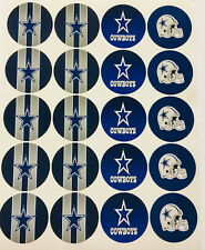 "SET of 40- 2"" DALLAS COWBOYS ADHESIVE STICKERS.Football. Birthday Parties"