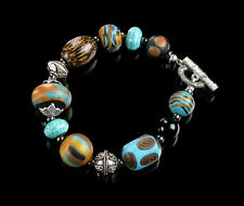 Polymer Clay Beaded Bracelet Handmade Clay Beads Art Jewelry