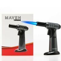 Maven Tornado Jet Torch Culinary Lighter w/ Adjustable Flame & Safety Lock