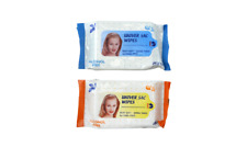 Pack of 2 Silky Soft Personal Cleansing Wipes - Alcohol Free - Travel Pack