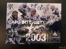 2002-03 Washington Capitals team signed auto calendar Peter Bondra Gonchar Lang