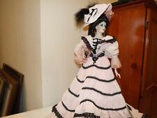 1995 Franklin Mint Coca Cola Porcelain Doll Victoria 19 in. Excellent With Box