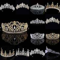Princess Bridal Wedding Prom Headband Crystal Rhinestone Pearl Tiara Crown