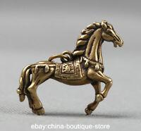 42MM Collect Small Curio China Bronze Lovable Zodiac Animal Horse Wealth Pendant