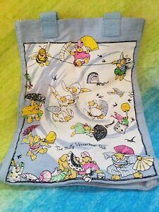 "NABCO Muffy Vanderbear Fan Club Accessories tote Bag 14"" x 10"" & Pin Lots print"