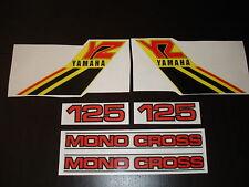 1984 YAMAHA YZ 125 COMPLETE DECAL SET AHRMA VINTAGE MOTOCROSS