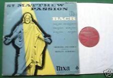 Bach St. Matthew Passion Vol. 1 Nixa WLP 6401-1 LP