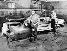 Old Photo. King Midget Factory - Painting Model III Autos