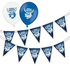 Set of Stag Night Bunting 15 Flags & Pack of 5 Printed Latex Asst Balloons