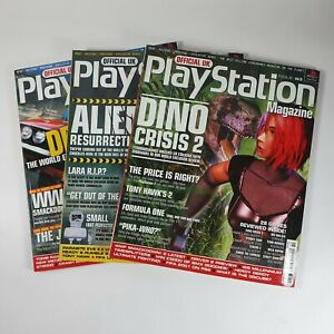 Official UK Playstation Magazine Issue 61 63 64 Aug-Nov 2000 Dino Crisis 2 Cover