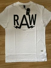 G Star New Mens Medium White Relaxed Fit T Shirt RRP £25