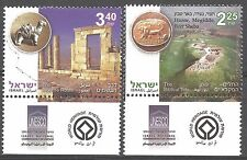 Israel Year 2008 Stamps MNH With Tab UNESCO World Heritage Sites In Israel