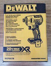 "Dewalt 20v XR Impact Driver 1/4"" Tool Only"