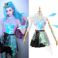 Game LOL KDA ALL OUT Seraphine Cosplay Costume Women Girl Dress Skirt Outfit Lot