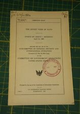 "1967 ""The Soviet View of Nato"" Commitee on Government Operations BREZHNEV"