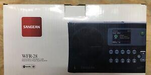 Sangean WFR-28 Internet Radio / FM-RBDS / USB / Network Music Receiver, Black