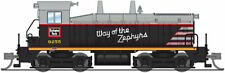 N-SCALE Broadway Limited 3879 EMD SW7 - Sound and DCC CB&Q 9255