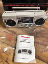 Vintage Boombox Americana Am/Fm Stereo Portable Radio Ghetto Blaster New In Box