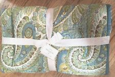 Pottery Barn Karen Paisley Quilt Twin New Sold Out at PB Rare Free Shipping