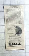 1961 Lifeboat J G Graves Of Sheffield Takes Injured Man Off Trawler