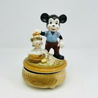 Vintage Mickey Mouse Figaro Ceramic Music Box Side by Side 1940s