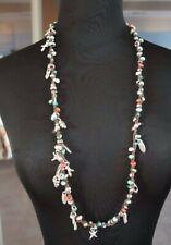 NEW Uno De 50 Colorful MuranoGlass Long Short Ocean Charm Necklace Wrap Bracelet