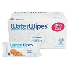 WaterWipes CHEMICAL FREE BABY WIPES 12 PACK x 60 WIPES (total of 720 Wipes)