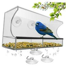 New listing Window Bird Feeder with Strong Suction Cups and Seed Tray, Outdoor Birdfeeders
