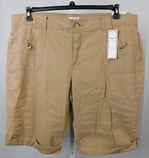 Charter Club Plus Size Classic Fit Cuffed Bermuda Shorts 22W Beige #2251