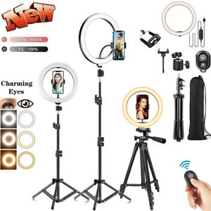 """8""""-18"""" LED Ring Light Kit With Stand Dimmable 6000K For Makeup Phone Camera NEW"""