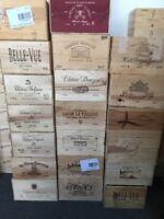 3x Weinkiste Holz 6er Magnum Kiste Deko Wein Shabby Chateau Regal Grand Cru