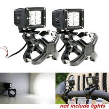 Voiture 2X x pinces support bull/roll bar mount for wrangler led/lampe au xénon support