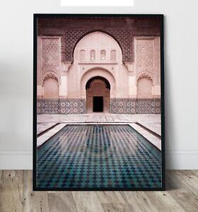 Morocco Art  - Morocco Mirage Wall Art Print, Canvas A4,A3,A2,A1,A0, On trend