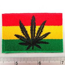 Bob Marley Marijuana Leaf Reggae embroidered iron on patches appliques 1.75x2.5