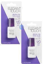 3x Elegant Touch PULIDO Uña Pegamento liquidar se seca en 4 segundos
